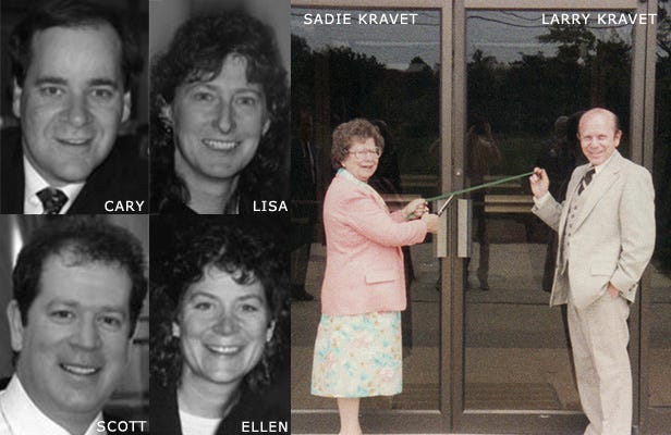 1980 Cary Lisa Scott and Ellen. Sadie and Larry Kravet inaugurates the Bethpage location.