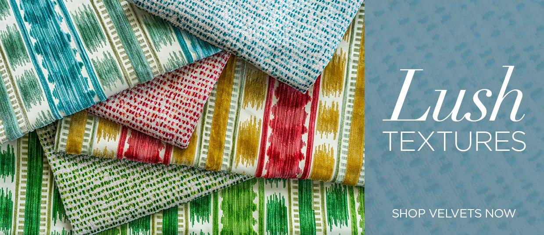 Lush Textures | Shop Chaumont Velvets Now