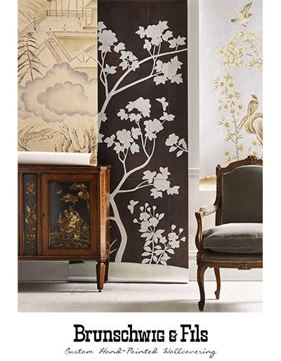 Custom Hand-Painted Wallcovering