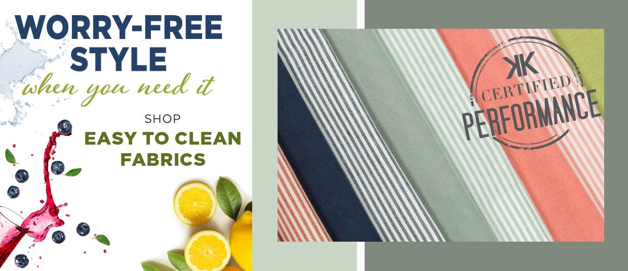 Shop Easy to Clean Fabrics