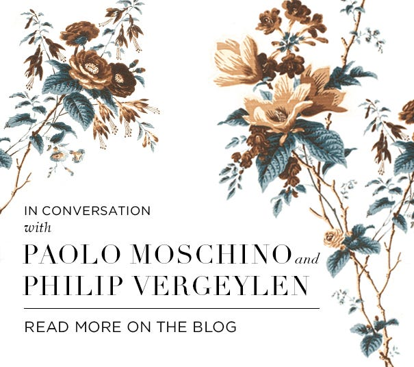 In Conversation with Paolo Moschino and Philip Vergeylen