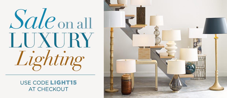 Sale on Luxury Lighting